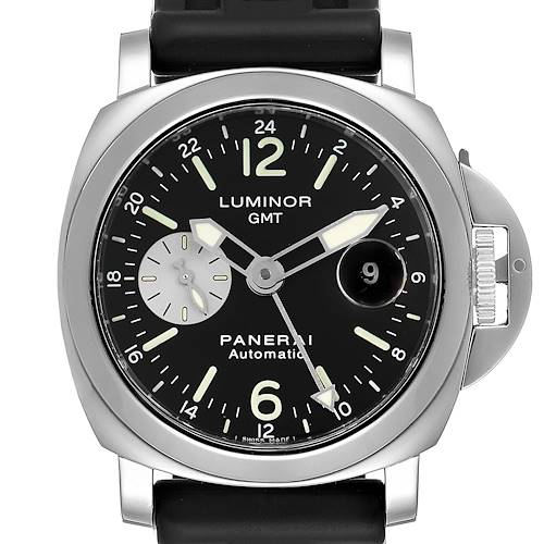 Photo of Panerai Luminor GMT Automatic Steel Mens Watch PAM00088 Box Papers