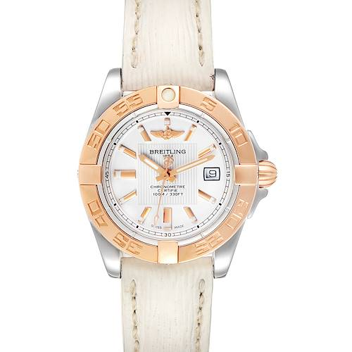 Photo of Breitling Galactic 32 Steel Rose Gold White Strap Ladies Watch C71356