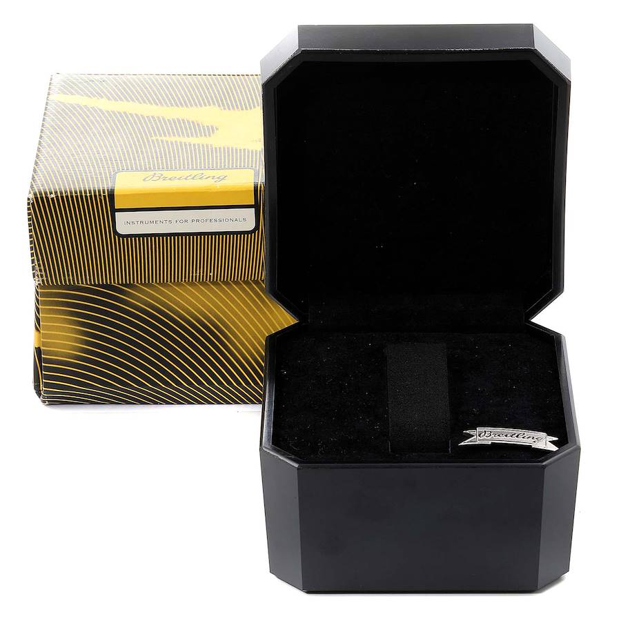 Breitling Galactic 32 Steel Rose Gold White Strap Ladies Watch C71356 SwissWatchExpo