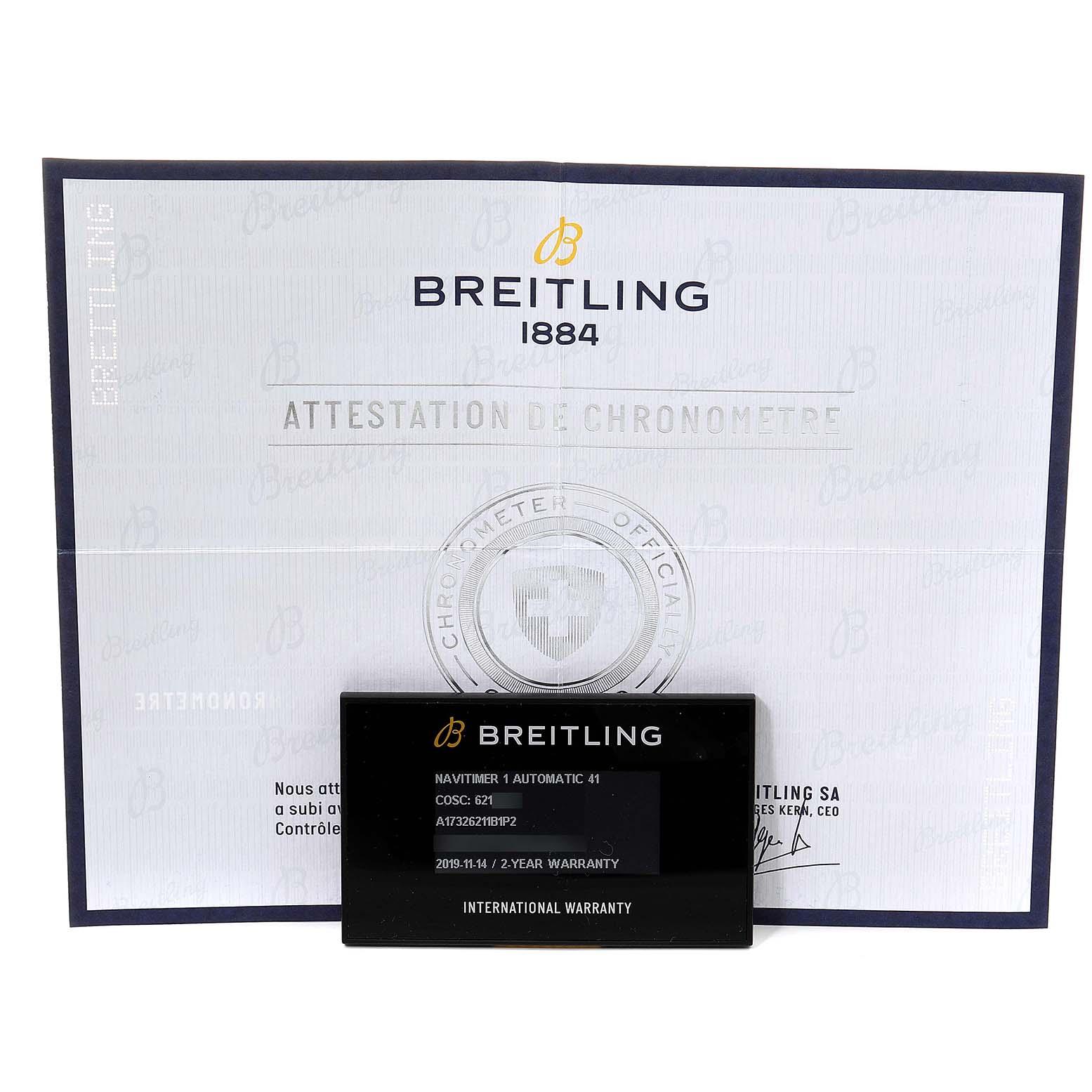 Breitling Navitimer 1 Black Dial 41mm Steel Mens Watch A17326 Box Papers SwissWatchExpo