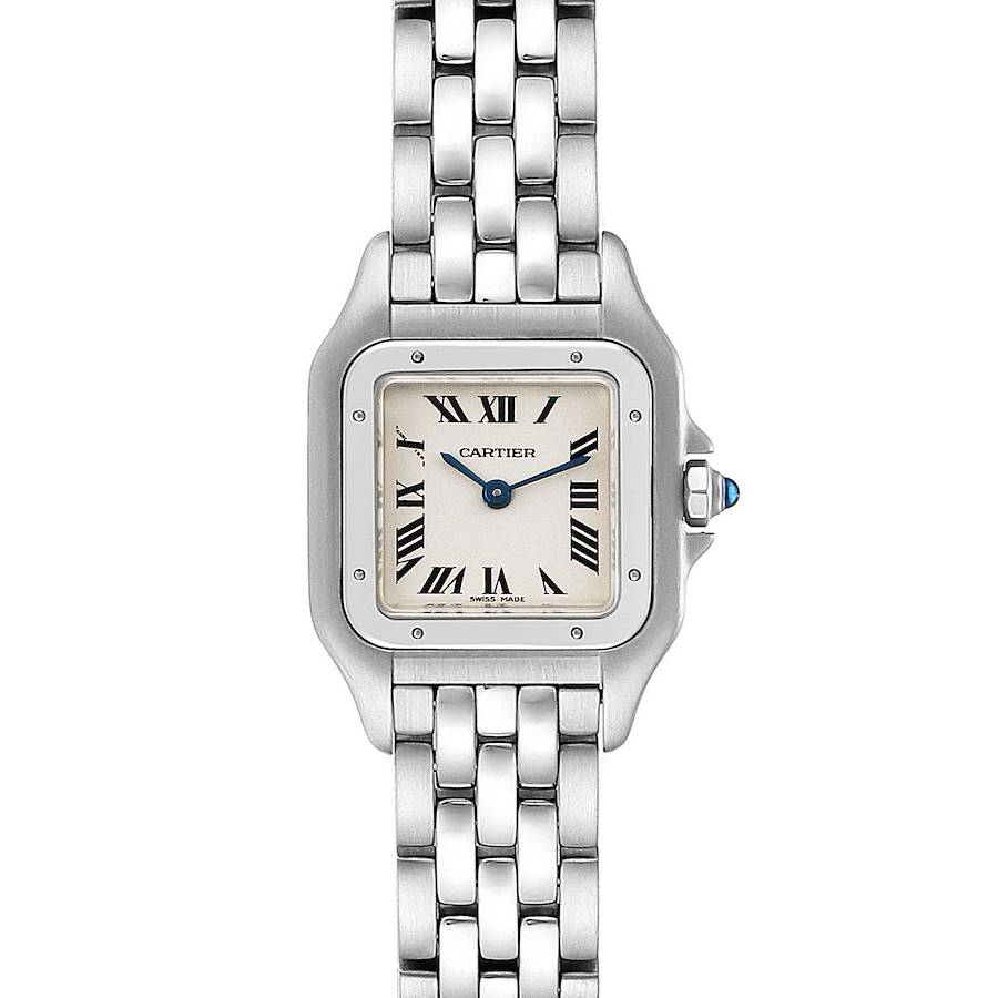 Cartier Panthere Ladies Small Stainless Steel Watch W25033P5 Box SwissWatchExpo