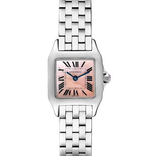 Photo of Cartier Santos Demoiselle MOP Dial Steel Ladies Watch W25075Z5 Box Papers