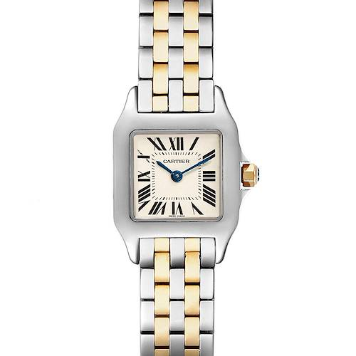 Photo of Cartier Santos Demoiselle Steel Yellow Gold Ladies Watch W25066Z6 Box