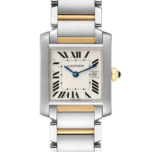 Photo of Cartier Tank Francaise Midsize Steel Yellow Gold Ladies Watch W51012Q4 Box