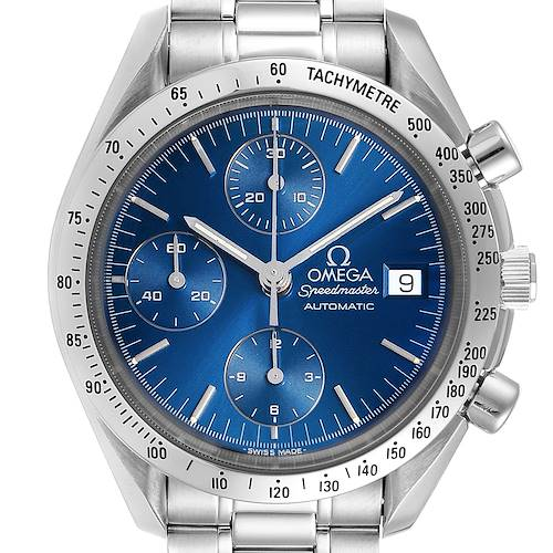 Photo of Omega Speedmaster Date Blue Dial Chronograph Mens Watch 3511.80.00