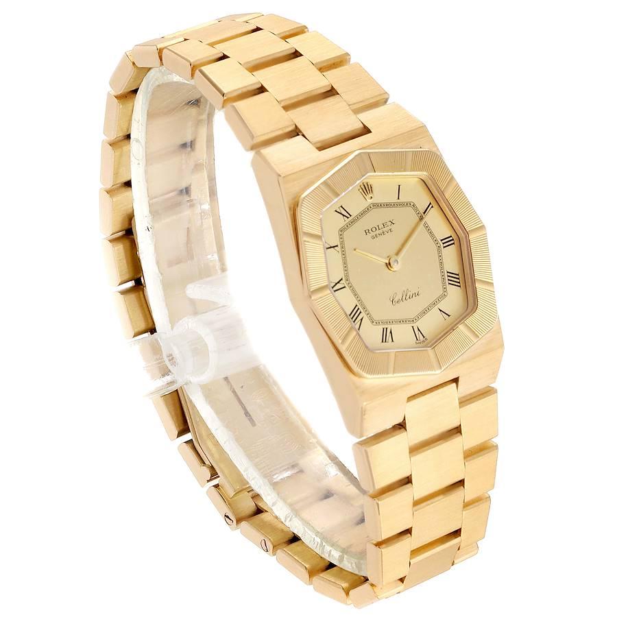 Rolex Cellini 26mm Octagonal 18K Yellow Gold Ladies Watch 4360 SwissWatchExpo