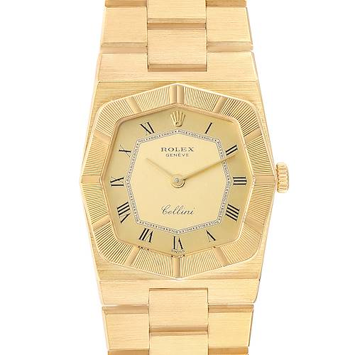 Rolex Cellini 26mm Octagonal 18K Yellow Gold Ladies Watch 4360