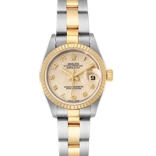 Photo of Rolex Datejust Steel Yellow Gold Anniversary Dial Ladies Watch 79173 Box
