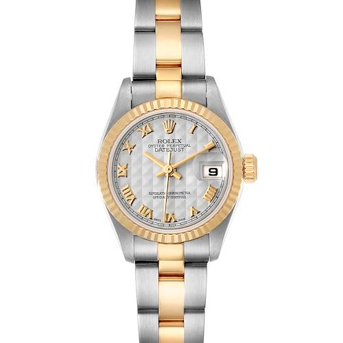Photo of Rolex Datejust Steel Yellow Gold Roman Numerals Ladies Watch 79173 Box Papers