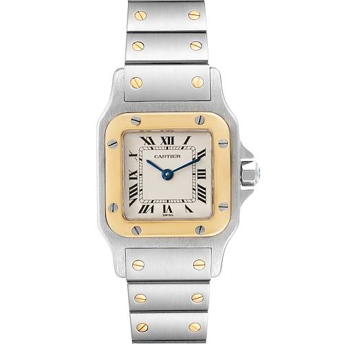 Photo of Cartier Santos Galbee Steel Yellow Gold Ladies Watch W20012C4 Box Papers
