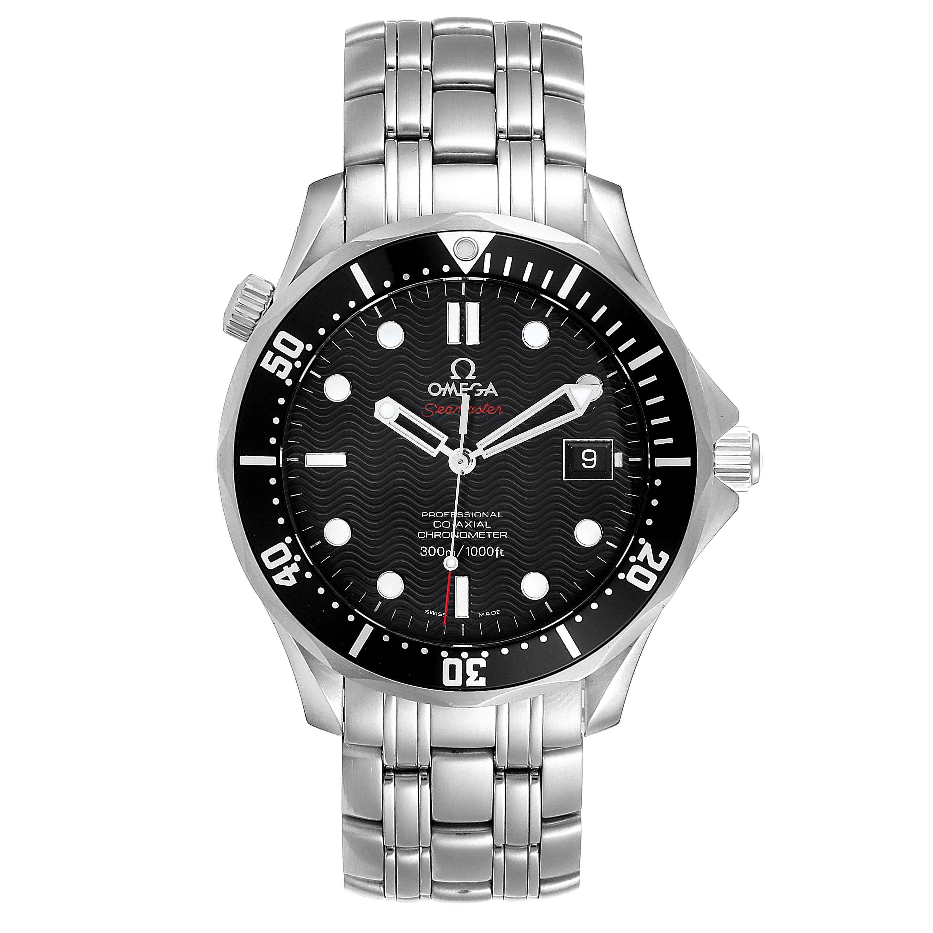 Omega Seamaster Black Dial Steel Mens Watch 212.30.41.20.01.002 Card SwissWatchExpo