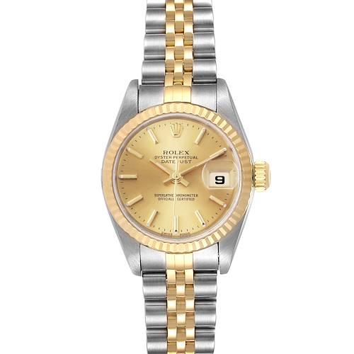 Photo of Rolex Datejust 26 Steel Yellow Gold Ladies Watch 79173 Box