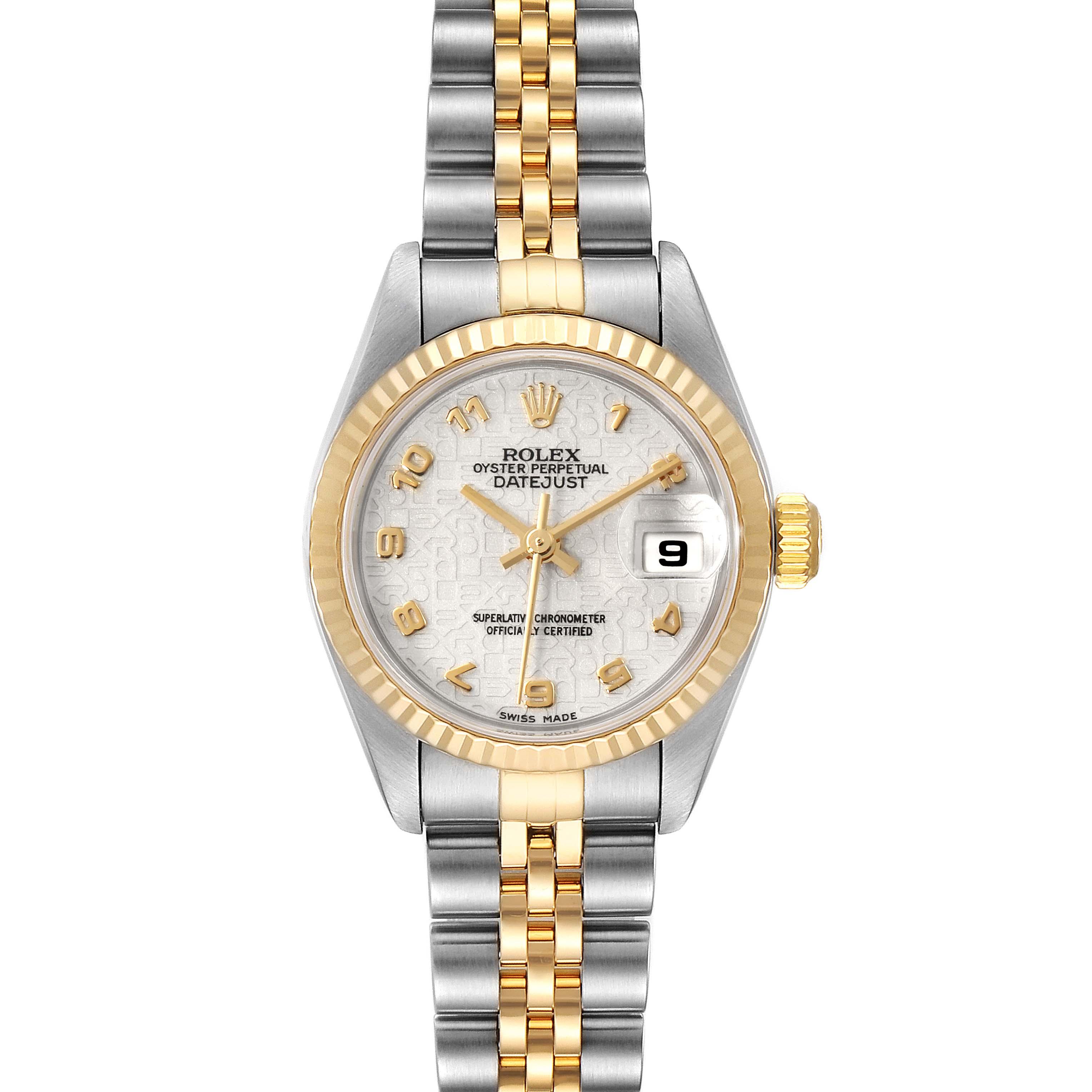 Rolex Datejust Steel Yellow Gold Anniversary Dial Ladies Watch 79173 Box SwissWatchExpo