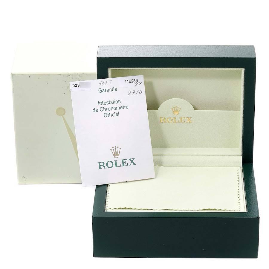 Rolex Datejust Steel Yellow Gold Black Diamond Mens Watch 116233 Box Papers SwissWatchExpo