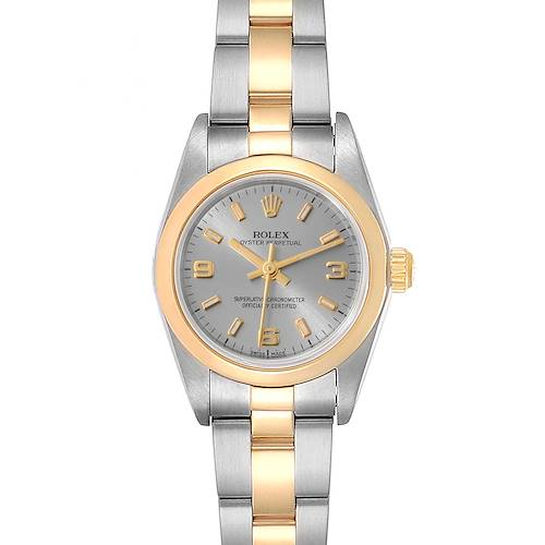 Photo of Rolex Oyster Perpetual Nondate Steel Yellow Gold Ladies Watch 76183 Box