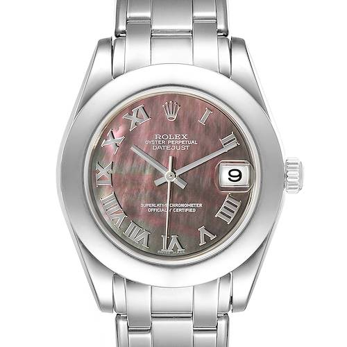 Photo of Rolex Pearlmaster 34mm Midsize White Gold MOP Ladies Watch 81319