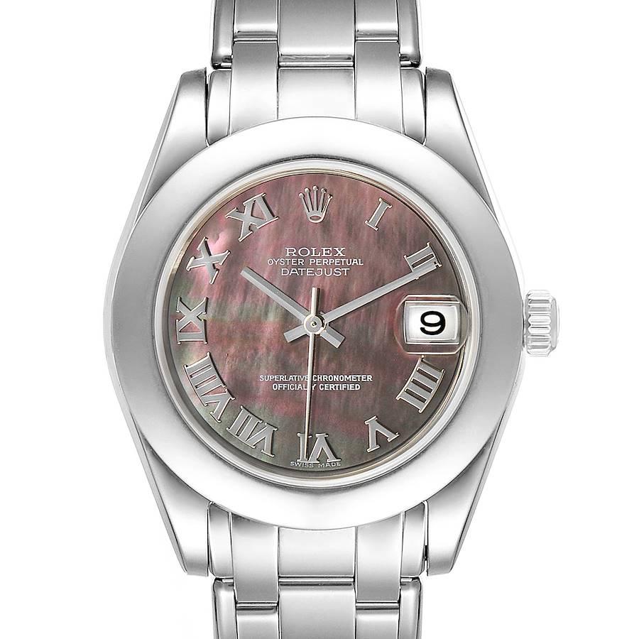 Rolex Pearlmaster 34mm Midsize White Gold MOP Ladies Watch 81319 SwissWatchExpo