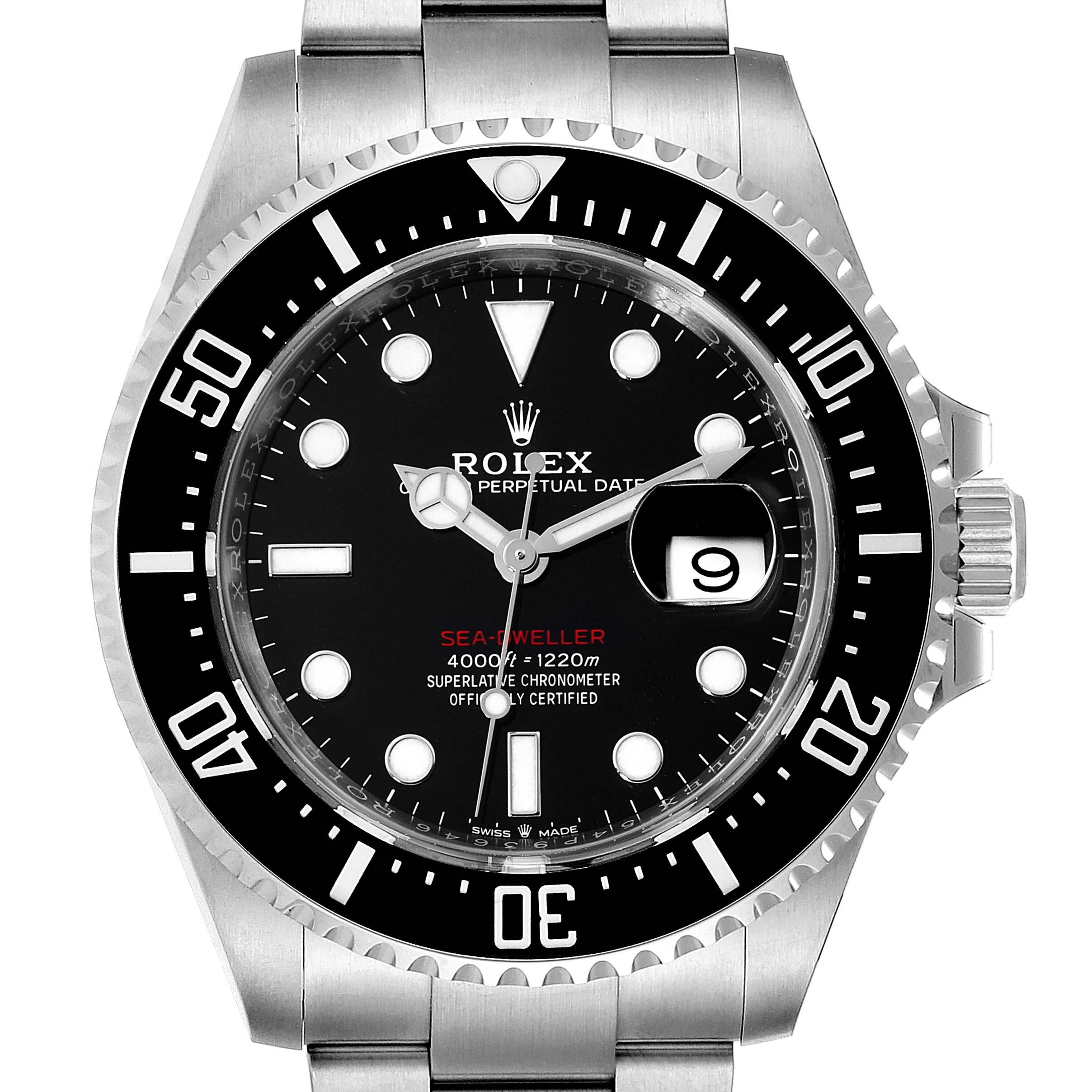 Rolex Seadweller 43mm 50th Anniversary Steel Mens Watch 126600 Unworn SwissWatchExpo