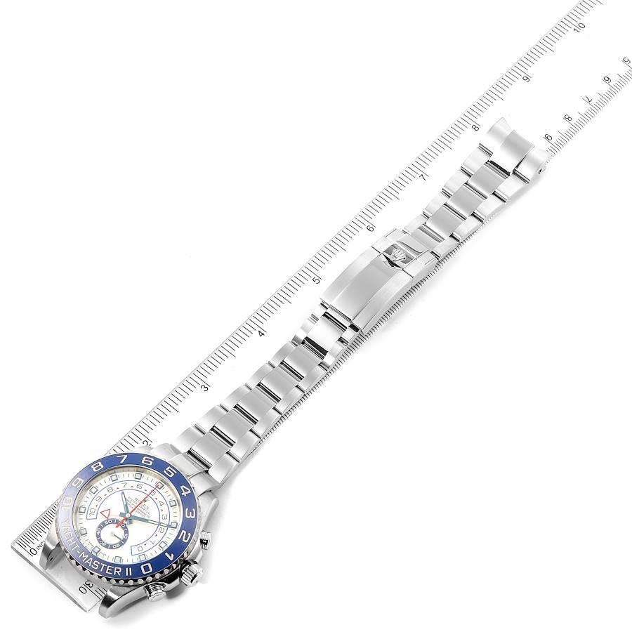 Rolex Yachtmaster II 44 Blue Cerachrom Bezel Mens Watch 116680 Box SwissWatchExpo