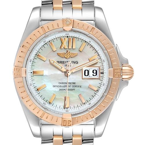 Photo of Breitling Windrider Cockpit Rose Gold Steel Mens Watch C49350 Box Papers