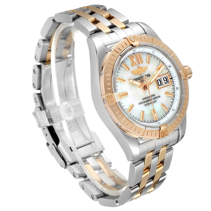 Breitling Windrider Cockpit Rose Gold Steel Mens Watch C49350 Box Papers SwissWatchExpo