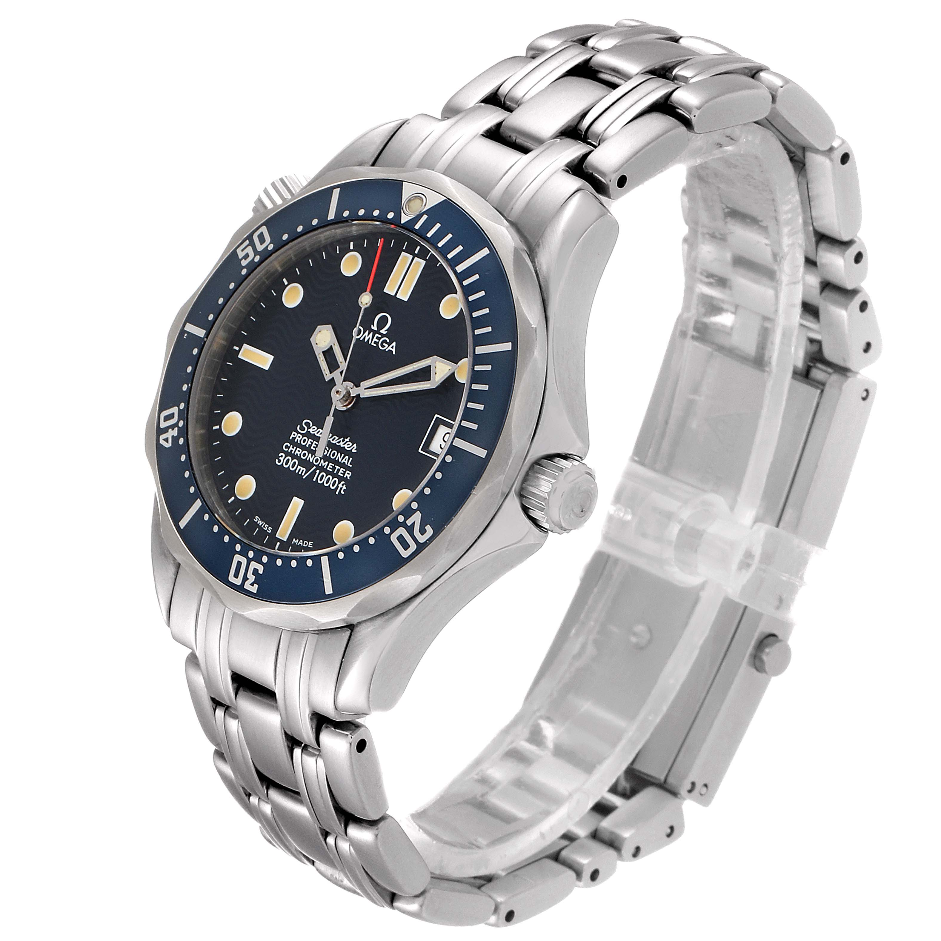 Omega Seamaster Midsize 36mm Blue Dial Steel Mens Watch 2551.80.00 SwissWatchExpo