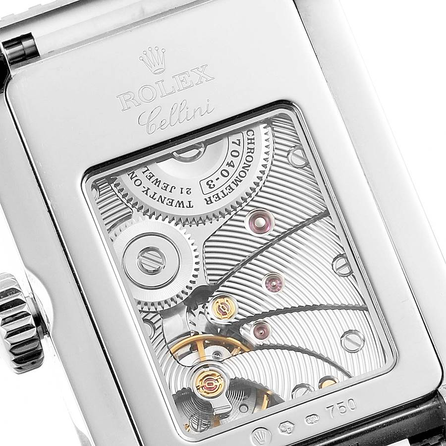 Rolex Cellini Prince White Gold Silver Dial Mens Watch 5441 SwissWatchExpo