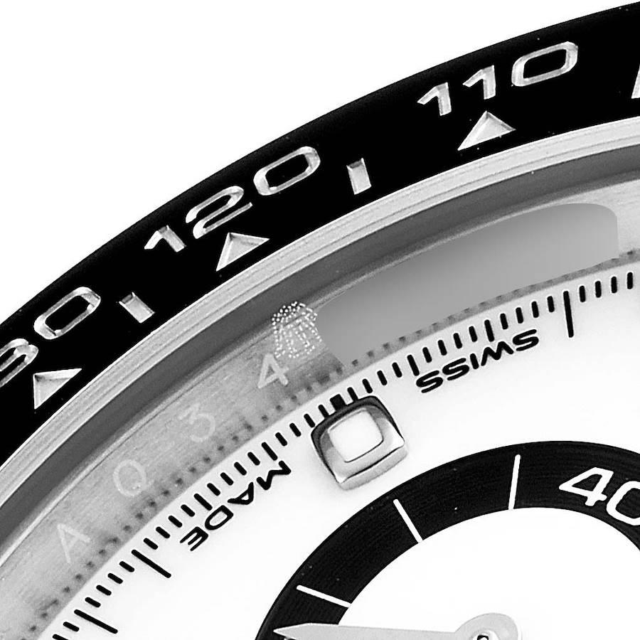 Rolex Daytona Ceramic Bezel White Dial Mens Watch 116500 Box Card SwissWatchExpo