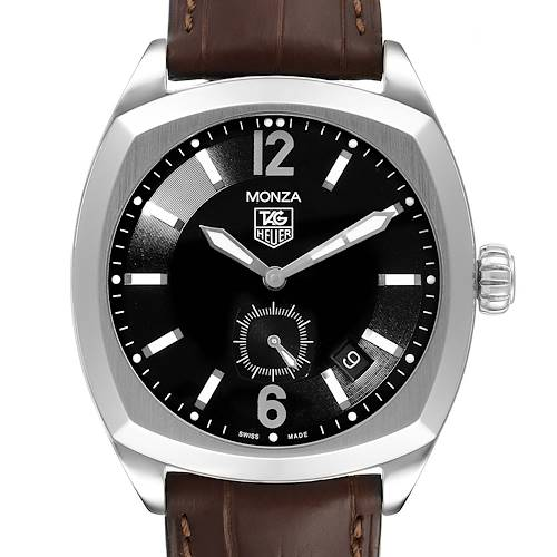 Tag Heuer Monza Black Dial Steel Mens Watch WR2110 Box Card