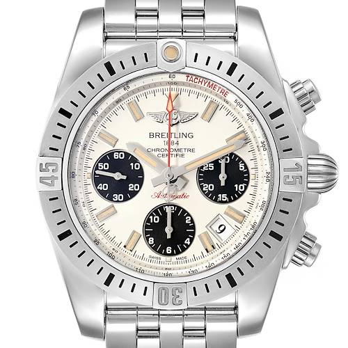 Photo of Breitling Chronomat 41 Airborne Steel Mens Watch AB0144 Box Papers