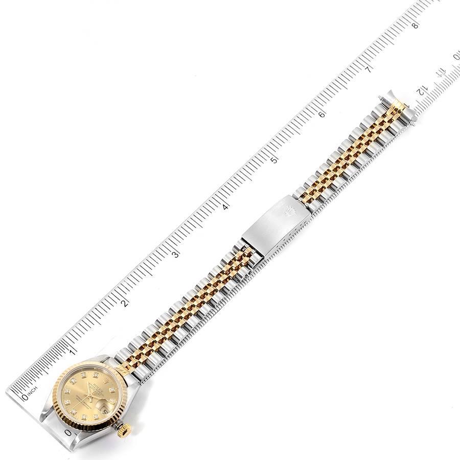 Rolex Datejust 26mm Steel Yellow Gold Diamond Ladies Watch 69173 Box SwissWatchExpo