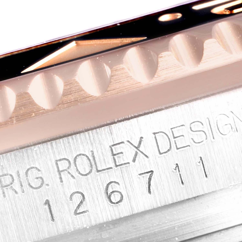 Rolex GMT Master II Steel Everose Gold Mens Watch 126711 Box Papers SwissWatchExpo