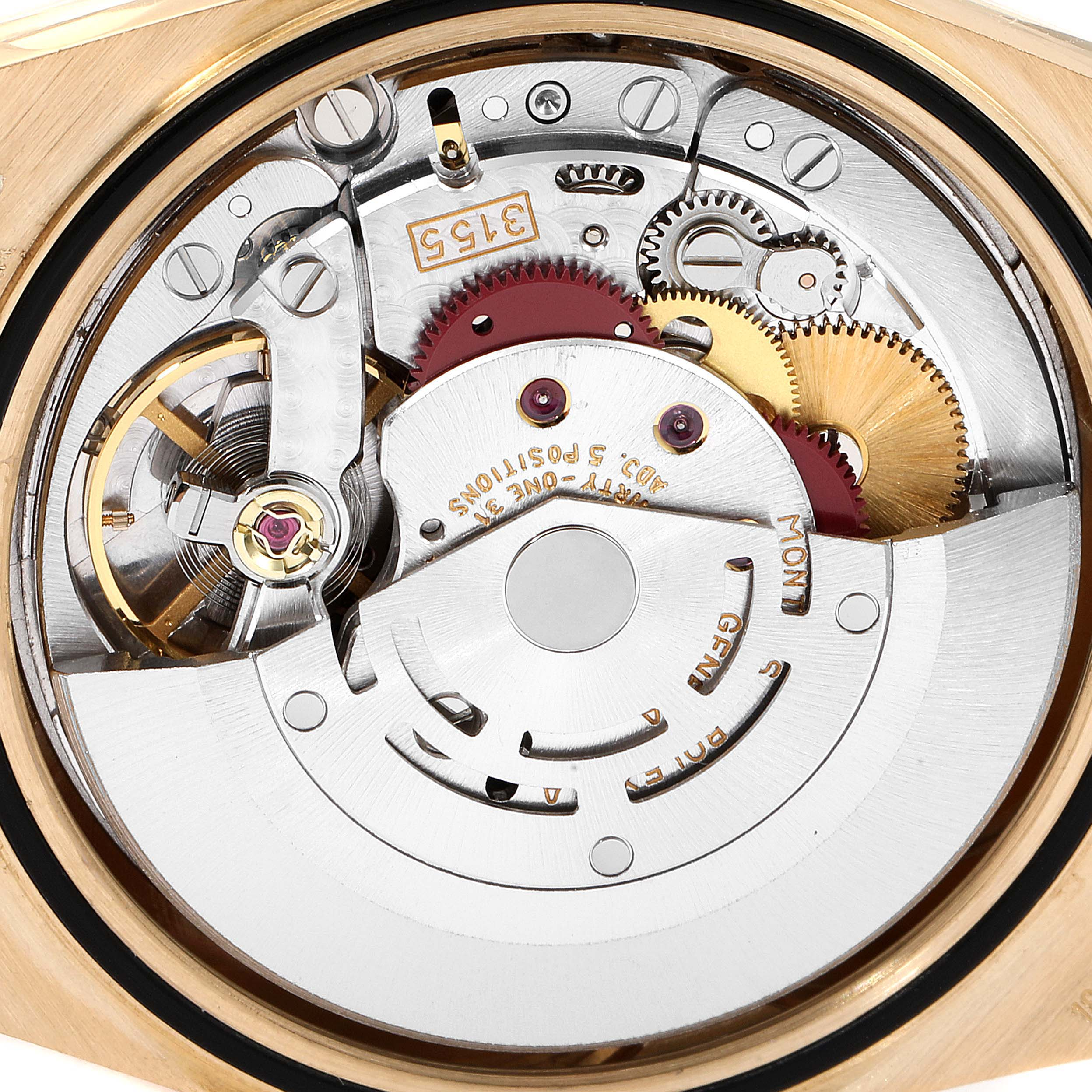 Rolex President Day-Date 36mm Yellow Gold Diamond Mens Watch 18238 Box Papers SwissWatchExpo