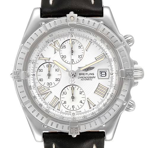 Photo of Breitling Windrider Cockpit White Dial Steel Mens Watch A13055 Box Papers