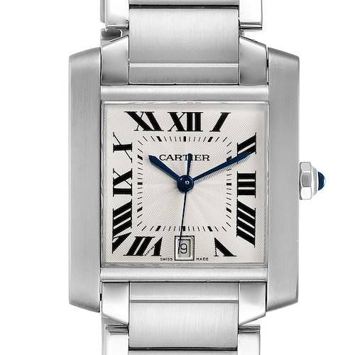 Photo of Cartier Tank Francaise Large Steel Automatic Mens Watch W51002Q3 Box