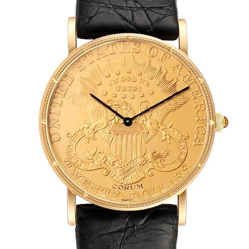 Photo of Corum 20 Dollars Double Eagle Yellow Gold Coin Year 1878 Mens Watch
