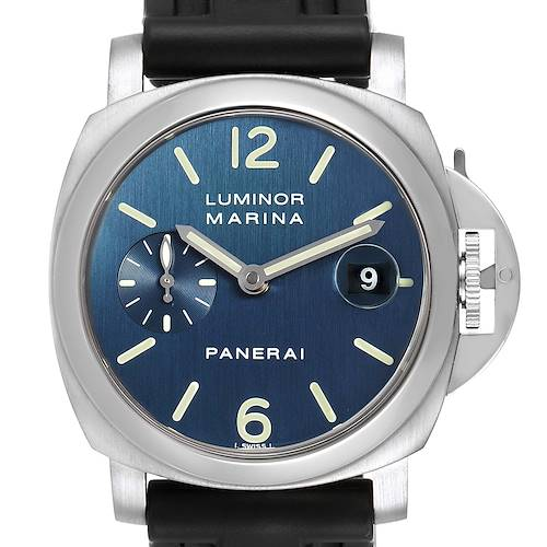 Photo of Panerai Luminor Marina Blue Dial Rubber Strap Mens Watch PAM00070