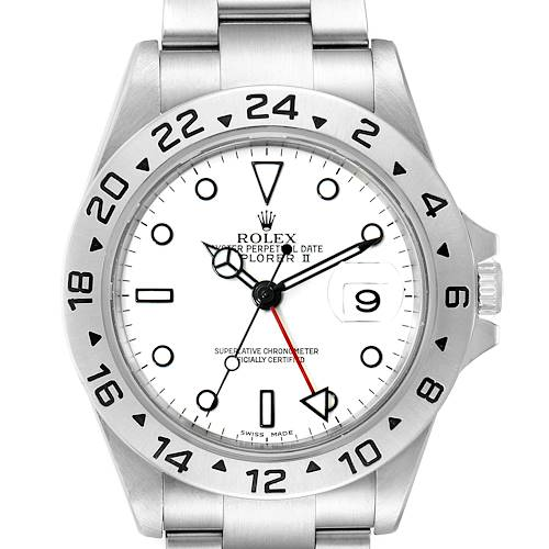 Photo of Rolex Explorer II White Dial Automatic Steel Mens Watch 16570 Box