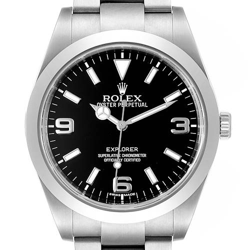 Photo of Rolex Explorer I 39 Black Dial Automatic Mens Watch 214270