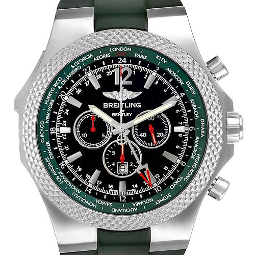 Photo of Breitling Bentley GMT Green Strap Limited Edition Watch A47362 Box Papers
