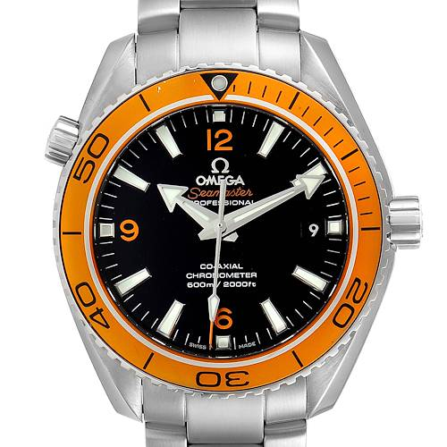 Photo of Omega Seamaster Planet Ocean Orange Bezel Watch 232.30.42.21.01.002 Box Card