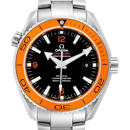 Photo of Omega Seamaster Planet Ocean Orange Bezel Watch 232.30.42.21.01.002 Box