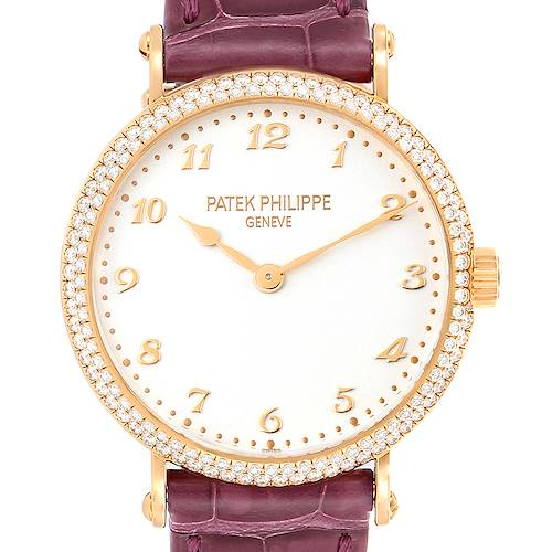 Photo of Patek Philippe Calatrava Ultra Thin Rose Gold Diamond Ladies Watch 7200