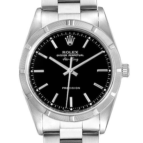 Photo of Rolex Air King 34 Black Dial Oyster Bracelet Steeel Mens Watch 14010 Box