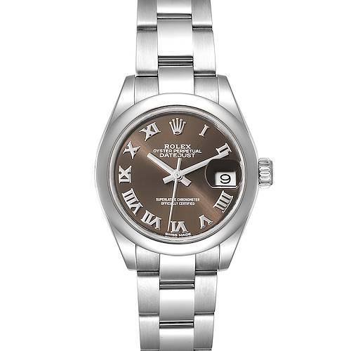 Photo of Rolex Datejust 28 Brown Dial Oyster Bracelet Steel Ladies Watch 279160 Box
