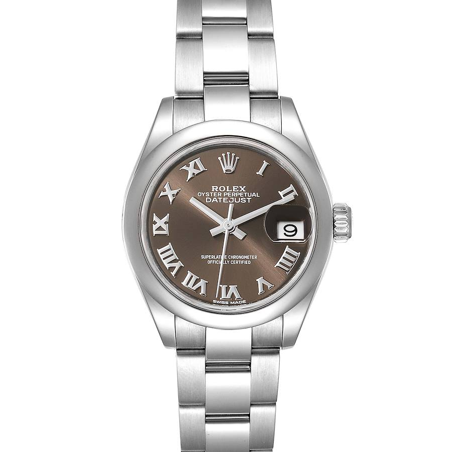 Rolex Datejust 28 Brown Dial Oyster Bracelet Steel Ladies Watch 279160 Box SwissWatchExpo