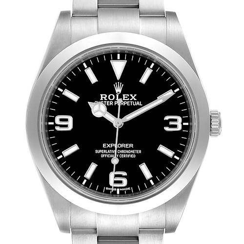 Photo of Rolex Explorer I 39mm Automatic Steel Mens Watch 214270 Box Card