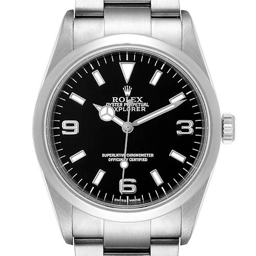 Photo of Rolex Explorer I Black Dial Stainless Steel Mens Watch 114270 EXTRA LINK ADDED (1)