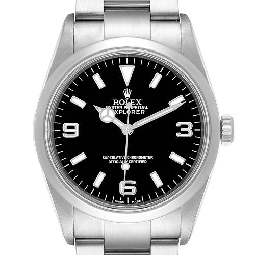 Photo of Rolex Explorer I Black Dial Stainless Steel Mens Watch 114270