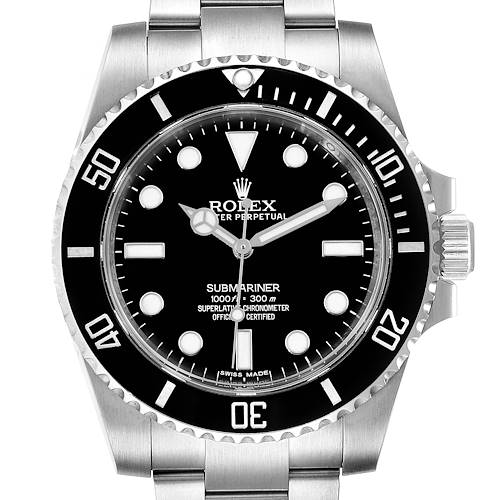 Photo of Rolex Submariner Ceramic Bezel Steel Mens Watch 114060 Box Card